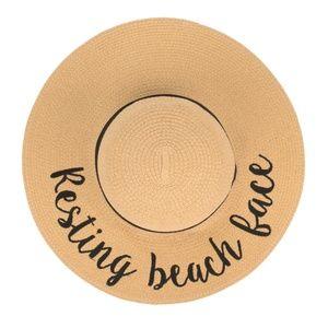 """Resting Beach Face"" Sun Hat"
